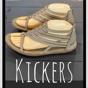Authentic Kickers leather sandals sz 8 Euro 38